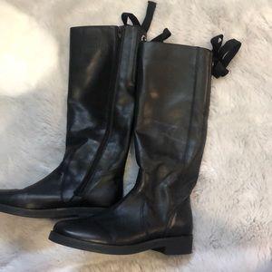 Tall black boots!! :)